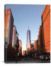 Freedom Tower At Sunset., Canvas Print