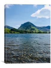 Fleetwith Pike On Buttermere., Canvas Print