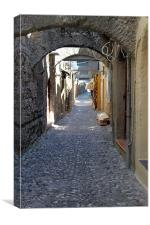 cobbled streets of rhodes, Canvas Print