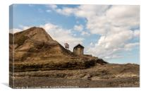 Hut, Filey Brigg, Filey, North Yorkshire, Canvas Print