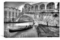The other side of Rialto, Canvas Print