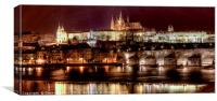 Prague By Night, Canvas Print