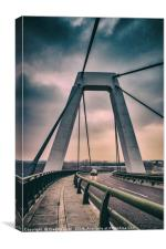 Cable-stayed bridge at Malpensa Airport, Italy, Canvas Print