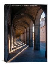 City Architecture. Lucca, Italy., Canvas Print