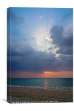 Sunset on the Beach, Canvas Print
