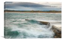 Beadnell harbour, Canvas Print