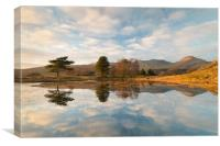 Kelly Hall Tarn and the old man of Coniston, Canvas Print