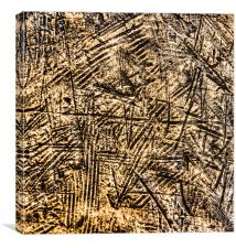 Scratched Copper, Canvas Print