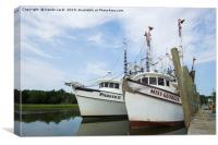 McClellanville Shrimpers, Canvas Print