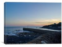 Porthleven Breakwater Cornwall, Canvas Print