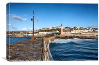 Porthleven Clock Tower Cornwall, Canvas Print