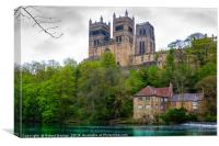 Durham Cathedral overlooking the River Wear, Canvas Print