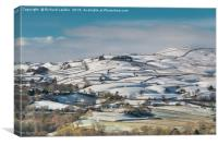 Kirkcarrion from Whistle Crag, Teesdale, in Winter, Canvas Print