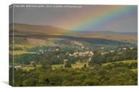 Rainbow over Middleton-in-Teesdale, Canvas Print