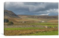Cronkley Scar and Widdybank Fell, Upper Teesdale, Canvas Print