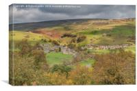 Gunnerside from Spring End, Swaledale, Yorkshire, Canvas Print