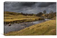 Bright Interval on Sleightholme Beck, Teesdale, Canvas Print