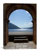 Beautiful view on the Bay of Kotor, Montenegro, Canvas Print