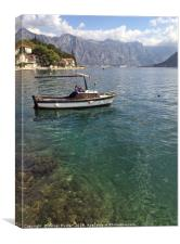 Beautiful view from Perast over the Bay of Kotor, Canvas Print