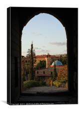 View from the castle in Byblos, Lebanon, Canvas Print