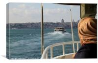 On a ferry in Istanbul, Canvas Print
