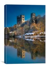 Winter Reflection of Durham Cathedral, Canvas Print