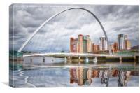 Millennium Bridge Reflection, Canvas Print