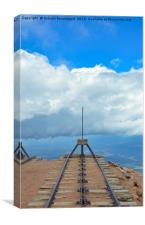 End of tracks, vertical, Canvas Print