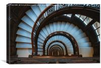 Spiral staircase, interior, downview, Canvas Print