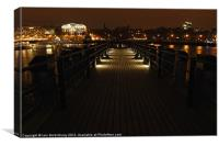 Pier on The Thames at Night, Canvas Print