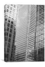 Canary Wharf Skyscrapers, Canvas Print