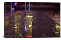 Wet Benches, Canvas Print