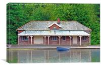 The Old Boat House, Canvas Print