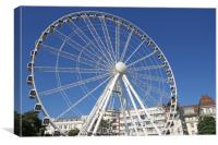 panorama wheel in Budapest Hungary, Canvas Print