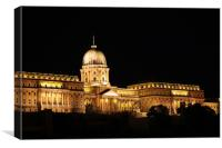 Budapest royal castle by night, Canvas Print