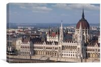 Hungarian Parliament Budapest close up, Canvas Print