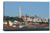 Fisherman bastion and Matthias church Budapest, Canvas Print