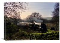A4 60009 Union of South Africa at Horncliffe, Canvas Print