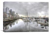 Seattle water front, Canvas Print