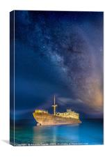 Shipwreck Milky Way, Canvas Print