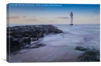 Perch Roch Lighthouse, New Brighton, Canvas Print