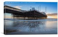 Blackpool South Pier Sunset, Canvas Print