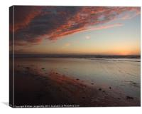 Red Sky A, Canvas Print
