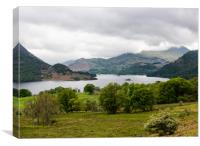 view down to Ullswater, Canvas Print