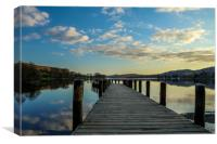 Monk Coniston Jetty, Coniston Water, Canvas Print