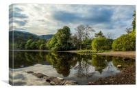 Reflections on Coniston Water, Canvas Print