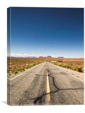 Road to Monument Valley, Canvas Print