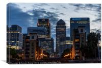 Summer Evening in Canary Wharf, Canvas Print