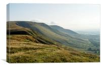 The escarpment and hills of the Black Mountains, Canvas Print