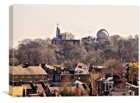 Rooftops and Observatory, Canvas Print
